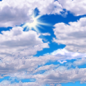 Friday: Mostly cloudy, with a high near 76. South wind 5 to 10 mph.