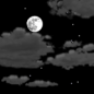 Tonight: Partly cloudy, with a low around 46. West wind 5 to 10 mph becoming light southwest  after midnight.